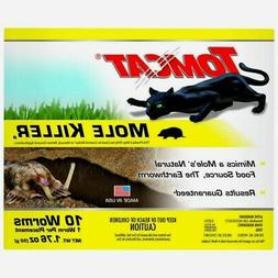 New! 0372310 TOMCAT Mole Killer 10 WORM Shaped Baits Pest Ro