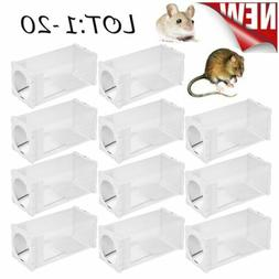 1~20 PACK Rat Trap Mouse Mice Ramp Chipmunk Live Catcher Aut