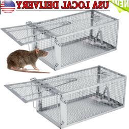 1/2Pcs Rat Trap Cage Live Animal Pest Rodent Mouse Control C
