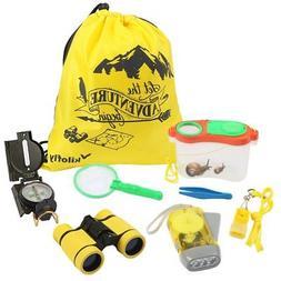 kilofly 8-in-1 Kids Nature Explorer Kit Fun Backyard Bug Cat