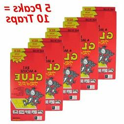 10 EXTRA LARGE Disposable Glue Traps Board for Mice Rats Mou