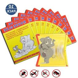 10 Pack/Mouse Glue Boards,Sticky Traps for Mice,Large Rat Pa