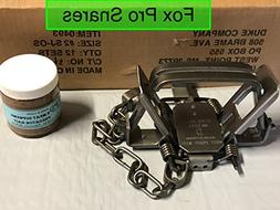 12 Duke #2 Square Jaw 4 coil Offset traps with 1 FREE jar of