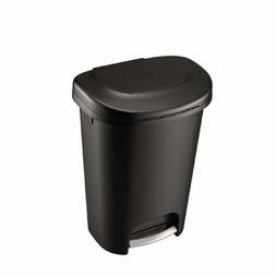 Step On Plastic Trash Can 13 Gal Rubbermaid Kitchen Waste Ba