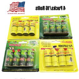 16 Rolls Sticky Fly Trap Paper Insect Bug Catcher Strip Fly