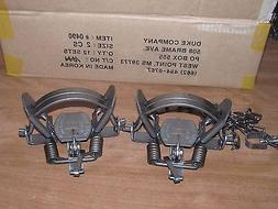 2 2 coil spring traps raccoon coyote