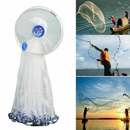Saltwater Fishing Cast Net For Bait Trap Height 4ft/6ft/7ft