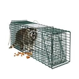 2-Door Animal Catching Trap Cage Rat Rodent Control Catch Hu