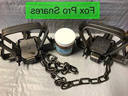 2 Duke #2 Square Jaw 4 coil spring traps with 1 FREE jar of
