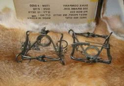 2 New Duke 110 body traps/muskrat/rabbit/mink trapping new s