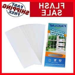 Faicuk 20-Pack Clear Window Fly Traps Sticky Fly Strip for I