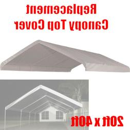 20 x 40 feet Roof Top Cover White Tarp for Replacement Outdo