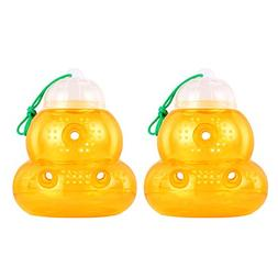 2018 Upgraded 2 Pack Wasp Trap Hornets, Yellow Jackets Wasp