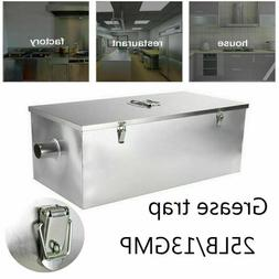 25LB Stainless Steel 13GPM Gallon Per Minute Grease Trap Int