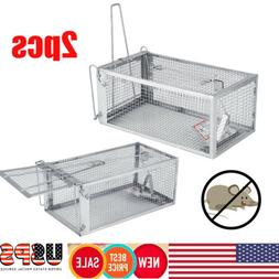 2Pack Rat Trap Cage Small Live Animal Pest Rodent Mice Mouse