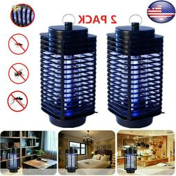 2pcs Electric Mosquito Fly Bug Insect Zapper Killer LED Trap