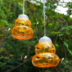 2Pcs Fatal Wasp Trap Hornet Fly Traps Sting Free No Chemical