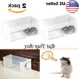 2pcs Rat Live Trap Box Mice Mouse Mole Small Rodent Cage Ani