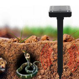 2Pcs Solar Power Ultrasonic Mouse Snakes Repeller Outdoor Ya