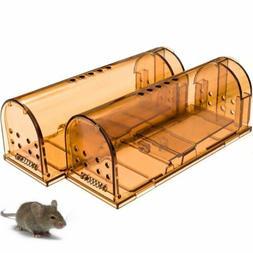 2PK Humane Mouse Trap Reusable Rat Rodent  Cage Catcher Live