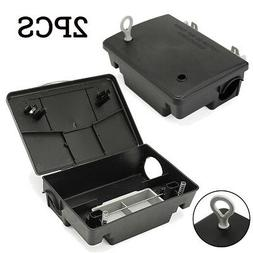 2x Rat Mouse Mice Rodent Bait Block Station Box Trap with Ke