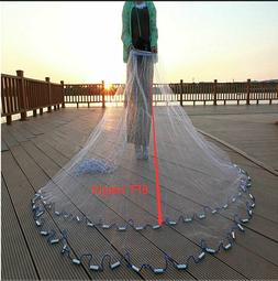 3.6M 12FT Fishing Cast Net Bait Easy Throw Hand Cast Strong
