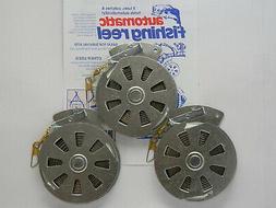 3 Mechanical Fisher's Yo Yo Fishing Reels -Packa Of 3 Reels-