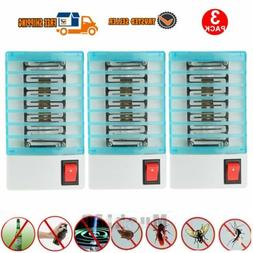 3 Pack Indoor LED Electric Mosquito Fly Bug Insect Trap Zapp
