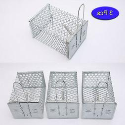3 Pcs Small Animal Live Capture Cage Box Mouse Trap Alive Ro