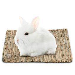 3 Natural Seagrass Rabbit Mats - Handmade Woven Play Mat - S