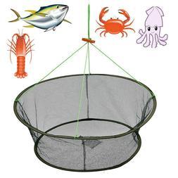 """33"""" Foldable Fish Crab Net Shrimp Minnow Bait Trap Cast Dip"""