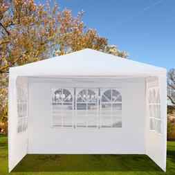 3x3M Three Sides Garden Party Gazebo Canopy Tarps Outdoor Te