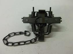 4 Duke # 2 Square Jaw Offset Coil Spring Traps 0793 Coyote B