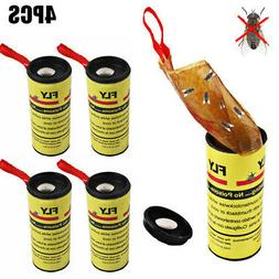4 Rolls Insect Bug FLY Glue Paper Catcher Trap Ribbon Tape S