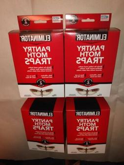 4x Eliminator Pantry Moth Traps - Safe Effective - Non-Toxic