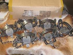 6 DUKE #2 COIL SPRING TRAPS RACCOON COYOTE BOBCAT FOX LYNX N