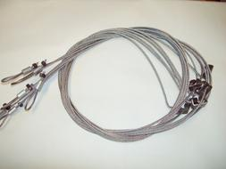 """6 HOG, WOLF SNARES 1/8"""" x 84"""""""" SURE LOCK trapping traps wild"""