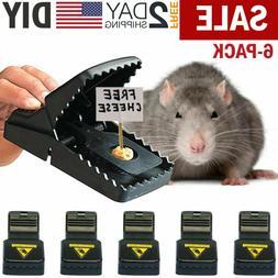 6PC Mouse Snap Traps Rat Mice Squirrel Killer Trap Power Rod
