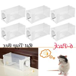 6pcs Rat Live Trap Box Mice Mouse Mole Small Rodent Cage Ani
