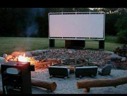 8' x 10'  Heavy Duty Outdoor Movie Screen 24 MIL WHITE Vinyl