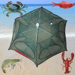 American Fishing Bait Trap Crab Shrimp Cast Dip Cage Fish Au