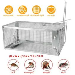 """Animal Trap 10.6""""x5.5""""x4.3"""" Steel Cage for Live Rodent Contr"""