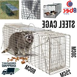 "Animal Trap 32""X 12""X 12"" Steel Cage Rodent Control Catch Re"