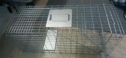 Animal Trap 32x12x12 Steel Cage Live Rodent Control Skunk Op