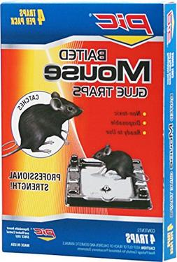 PIC Baited Mouse Glue Traps, 4Count