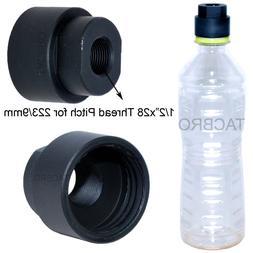 Black Aluminum 9MM Soda Pop Bottle 1/2x28 TPI Cleaning Patch