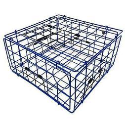 Blue Metal Catching Folding Crab Lobster Trap Pot Box Basket