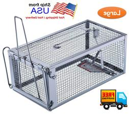 Large Live Humane Cage Trap for Squirrel Chipmunk Rat Mice R
