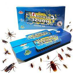 Becase 10 Pack Cockroach Traps with Bait, Sticky Paper House