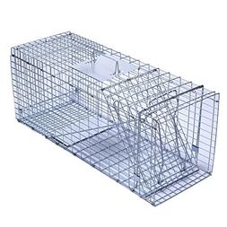 Trapro Large Collapsible Humane Live Animal Cage Trap for Ra